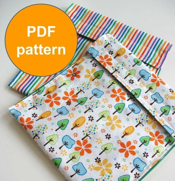 PDF Sewing Pattern - Picnic Pouch - Reusable, Wipeable, and Washable