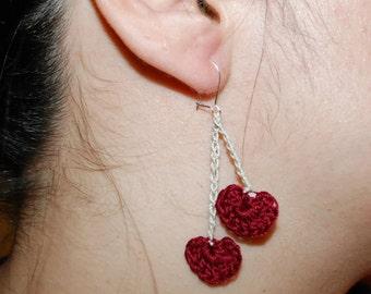 Your My Valentine Crochet Earrings
