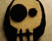 Simple Skull On Black Oval