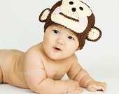 Inquisitive Monkey Silly Hat ebook Crochet Pattern... includes sizes Baby--Adult