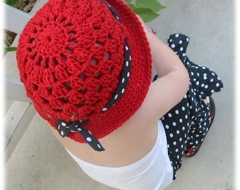Easy Shells Cloche Hat with Tie Crochet Pattern