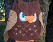 PDF Pattern Owl Bag-Purse  Crochet and Felt