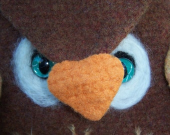 PDF Pattern Owl Bag Crochet and Felted