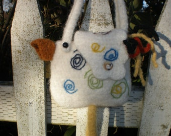 Pattern  Crochet Felted Wool Mini Chicken Bag