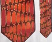 NECKTIE - Orange, Red and Maroon Harmony