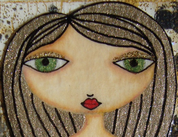 ACEO (Original) - Black and Gold 4/5