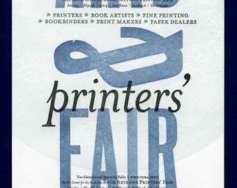 Letterpress Book Arts and Printers Fair Poster 2009
