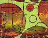 Abstrac Painting Acrylic titled Rounding Spot Green 2