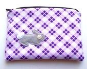 Bunny rabbit zip pouch