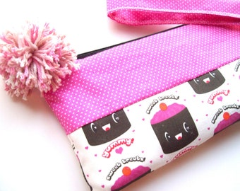 SALE-Choco cake wristlet (Last one available)