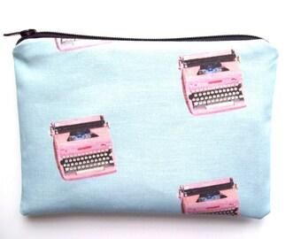 Typewriter pouch- Blue
