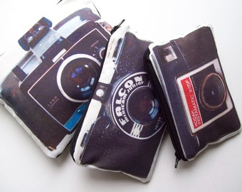Vintage camera series pouch set