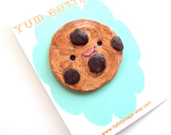 SALE- Chocolate chip cookie yum button