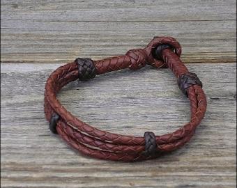 12 Strand Braid Leather Bracelet
