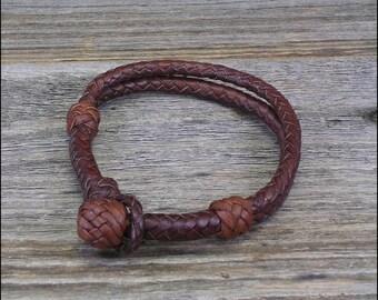 12 Strand Braided Leather Bracelet
