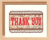 Lace Pattern Thank You Card