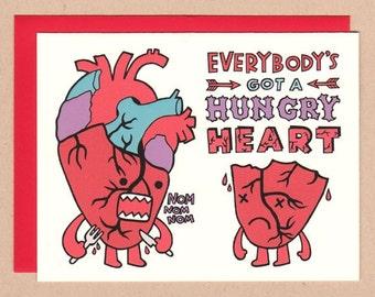 Hungry Heart (Anti) Valentine Card