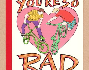 You're So Rad BMX Valentine Card