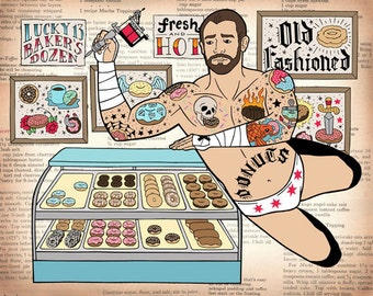 CM Punk's New Finishing Move is The Donut Tattoo