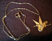 Golden Phoenix Necklace