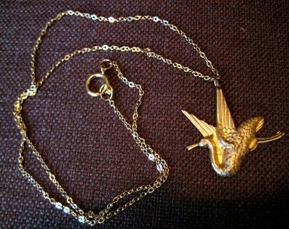 Golden Phoenix Necklace