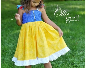 Snow White Simply a Princess Sundress Dress Costume Dress up Boutique Ollie Girl Handmade