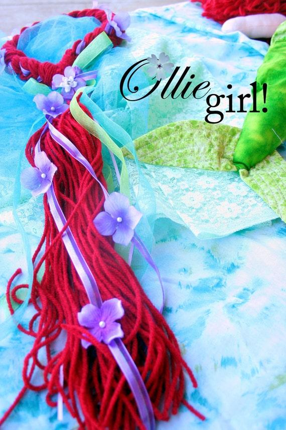 Custom Mermaid hair  crown halo braid by Boutique Ollie Girl