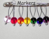 Knitting Stitch Markers Rainbow Extra Small Loop SnagFree Stitch Markers Set of 7 Next Day Shipping