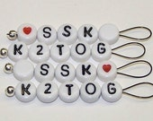 Small Loop SnagFree Stitch Markers SSK and K2TOG Set of 4