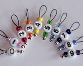 Knitting Sitch Markers, SnagFree, for Socks or Lace, Numbers 0 to 9  Stitch Markers Total of 10 Markers Extra Small Loop