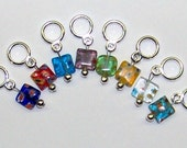 Stitch Markers SnagFree 2 Sets of Millefiori on Small Rings