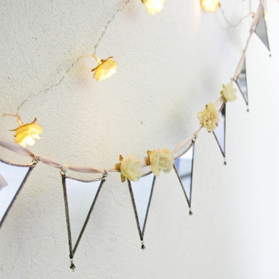Mirror Bunting, A Vintage Home - mirrored glass bunting garland MADE TO ORDER