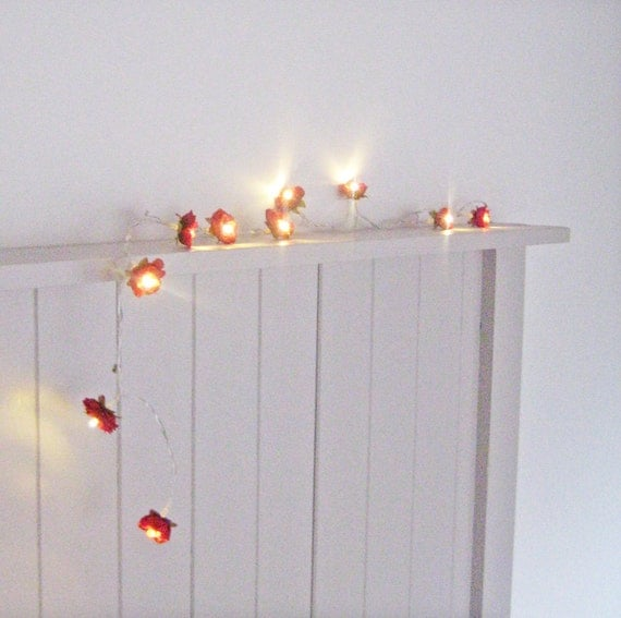Deep Red - Wild Roses Fairy Lights