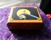 repurposed cigar box Nightmare before christmas