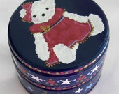 Hand Painted Love Boxes Sailor Bear Blue Box Wood