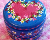 Hand Painted Love Boxes Pink Red Blue Heart Flowers Box Wood