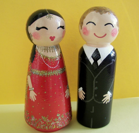 indian wedding cake dolls painted boxes custom indian by handpaintedloveboxes 16414