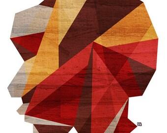 Polygon (Wood Silhouette), 8X10 Art Print