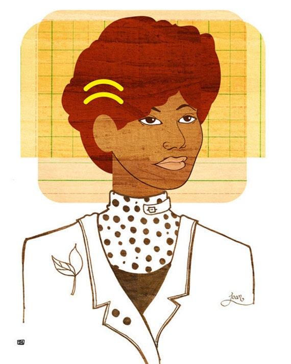 Yearbook Joan, (Portrait)  Art Print