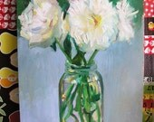 Original oil painting- Still life with flowers