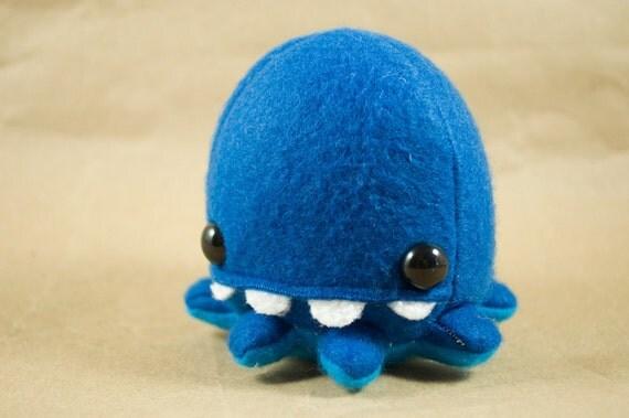 Tiny Octopus - Blue over Cyan