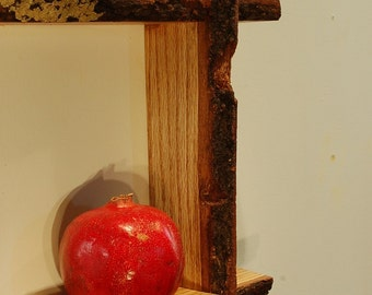 Oak Live Edge Shelf No. 1