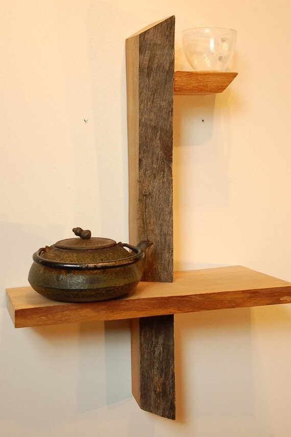 Small Wood Shelves : RESERVED Small Live Edge Shelf No. 9 by ADrauglis on Etsy