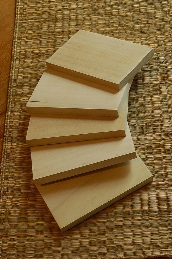 Pack of 5 Poplar Hardwood Tiles