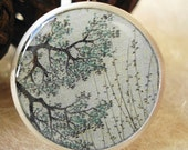 round tray ring-blue branches