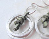 custom order for cLynneS-silver hoops olive