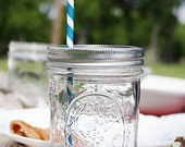 2 Mason Jars with Straws