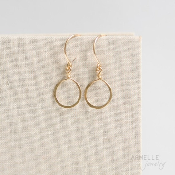simple circle earrings       . 14kt gold filled     .