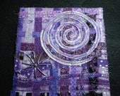 Amethyst Dream-Starburst Quilted Fabric/Fiber Art Quilt-OOAK