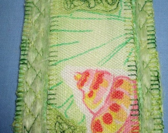 Seafoam-Mini Art Quilt Collectible-ATC\/ACEO-OOAK
